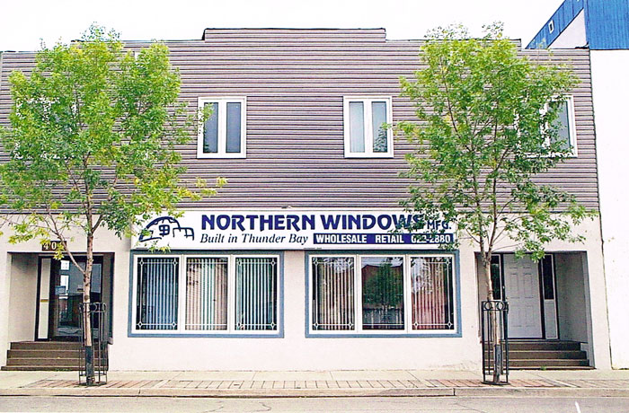 Northern Windows and Door showroom on Simpson Street, Thunder Bay